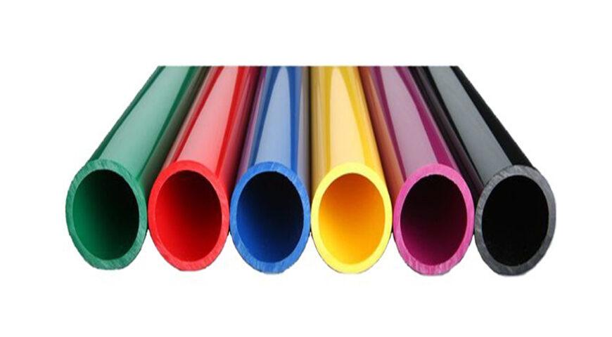 رنگ کردن لوله پلیکا